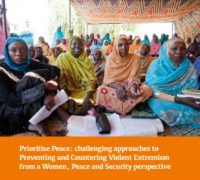 thumbnail of GAPS report_Prioritise Peace – Challenging Approaches to P & CVE from a WPS perspective